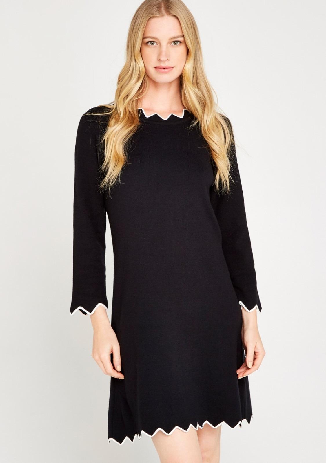 Image of Apricot Strickkleid »Zigzag Bodycon 3/4 Sleeve Dress«