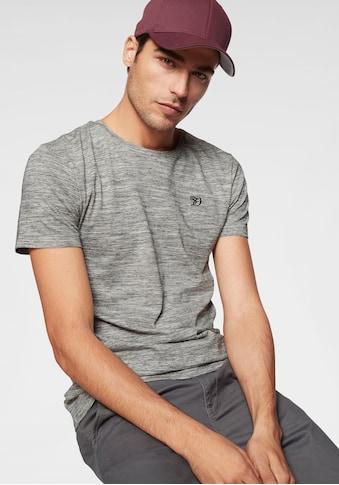 TOM TAILOR Denim Rundhalsshirt, mit dezenter Logostickerei auf der Brust kaufen
