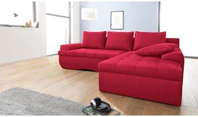 INOSIGN Ecksofa »Carina«, in XL, wahlweise mit Bettfunktion kaufen