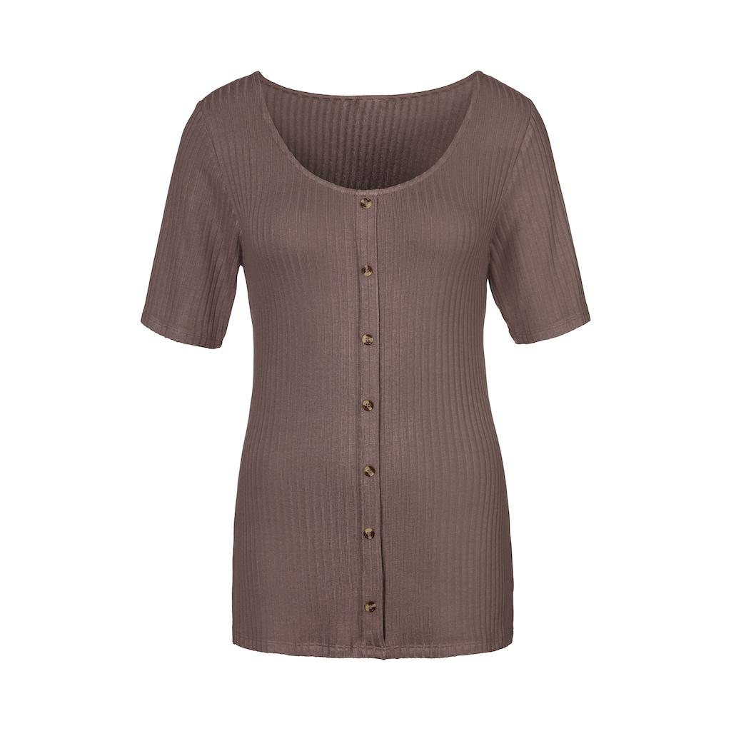 Vivance T-Shirt, Aus hochwertiger Rippware