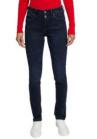 edc by Esprit Straight-Jeans, mit schönem 2-Knopf Verschluss kaufen