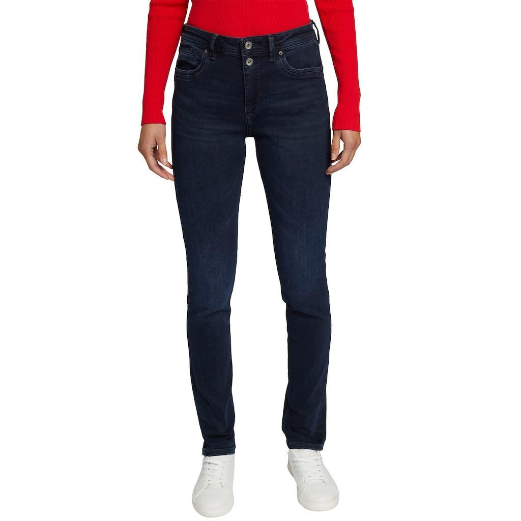 edc by Esprit Straight-Jeans, mit schönem 2-Knopf Verschluss