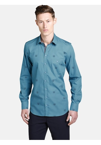 SHIRTMASTER Langarmhemd »tigerhead«, grafisches All Over Print kaufen