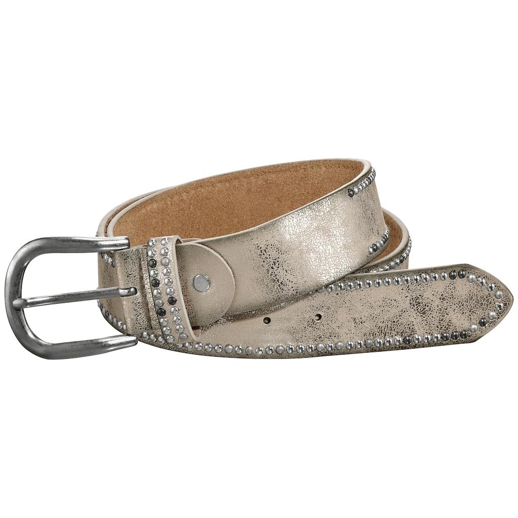 heine Nietengürtel, mit Metallic-Finish
