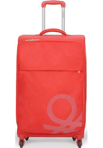 United Colors of Benetton Weichgepäck-Trolley »Blow, 78 cm, red«, 4 Rollen kaufen