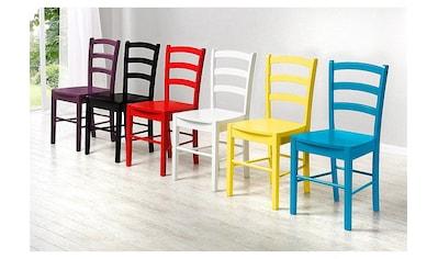 Home affaire Esszimmerstuhl, in zwei verschiedenen Farben erhältlich, in schöner... kaufen