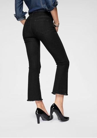 Arizona 7/8 - Jeans »ausgefranster Saum« kaufen