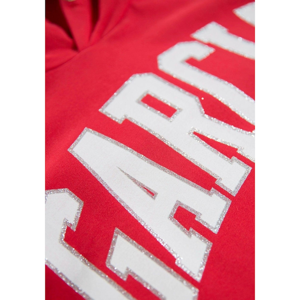 Garcia Kapuzensweatshirt, mit Glitzer-Logodruck