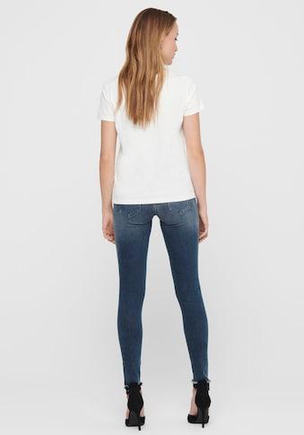 Only Ankle-Jeans »ONLBLUSH«, mit Fransensaum kaufen