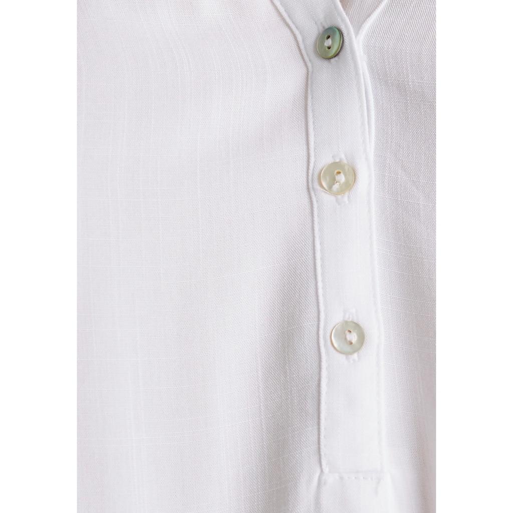 Esprit Shirtbluse, mit Perlmuttknopfleiste