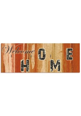 Artland Schlüsselbrett »Willkommen zuhause_braun«, aus Holz mit 4 Schlüsselhaken –... kaufen