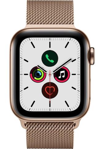 Watch Series 5 GPS + Cellular, Edelstahl goldfarben, 40 mm mit Milanaisearmband, Apple kaufen