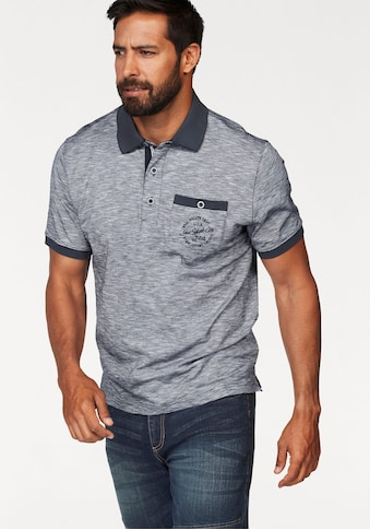 Man's World Poloshirt, in melierter Optik kaufen