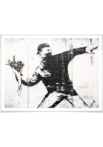 Wall-Art Poster »Graffiti Bilder Der Blumenwerfer«, Menschen, (1 St.), Poster,... kaufen