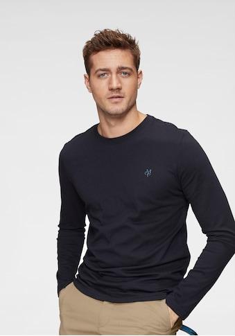 Marc O'Polo Langarmshirt, MOP-Print- Druck im Brustbereich kaufen