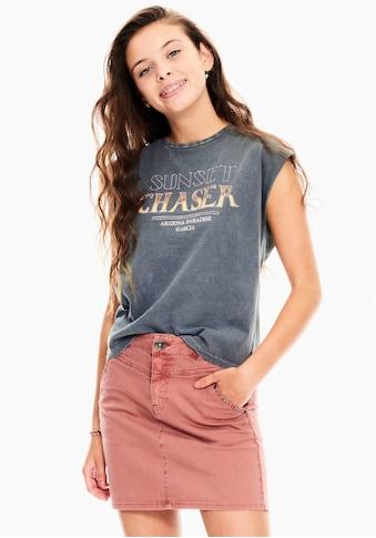 Garcia T-Shirt, in kastiger Kurzform kaufen