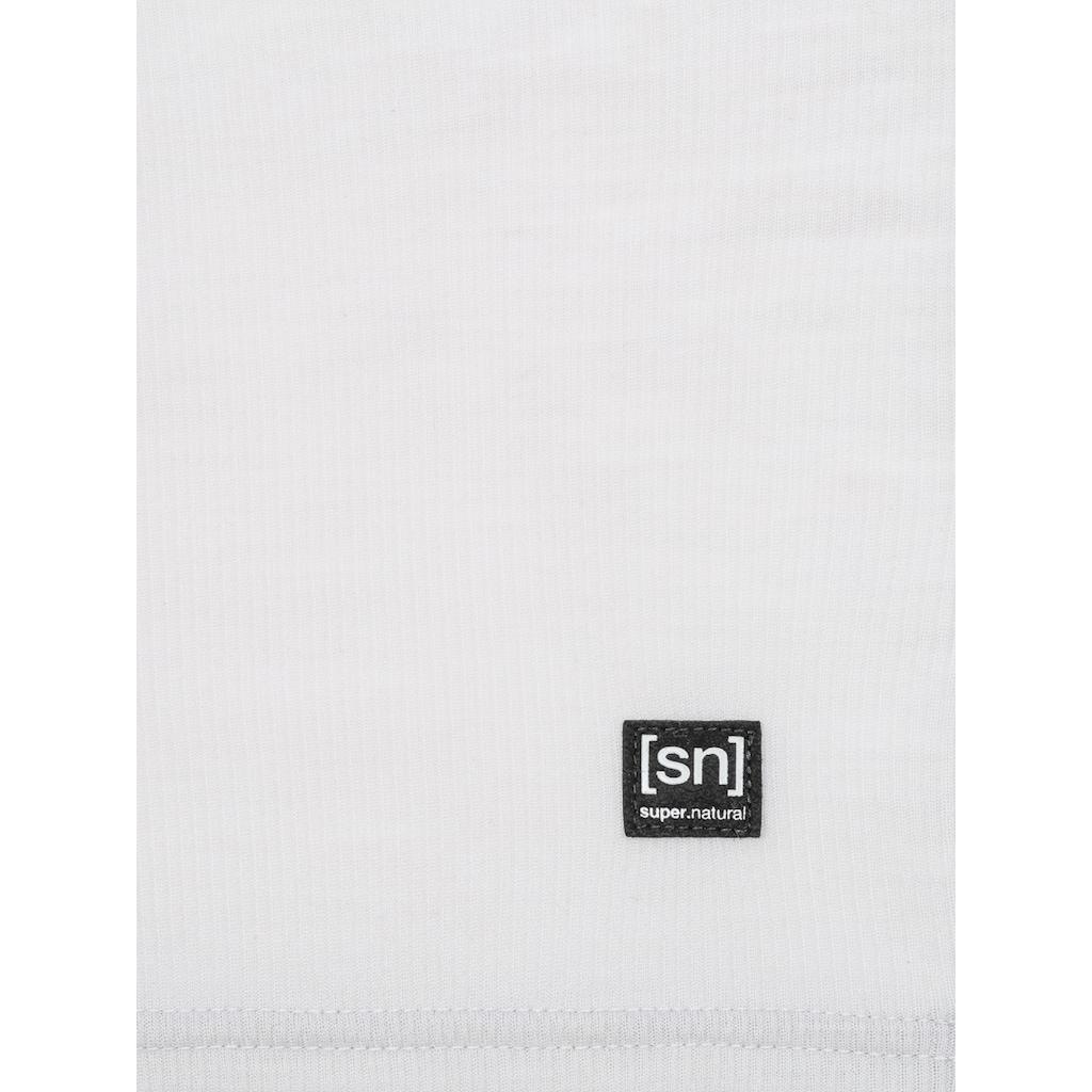 SUPER.NATURAL Longsleeve »W RIB LS«, angenehmer Merino-Materialmix