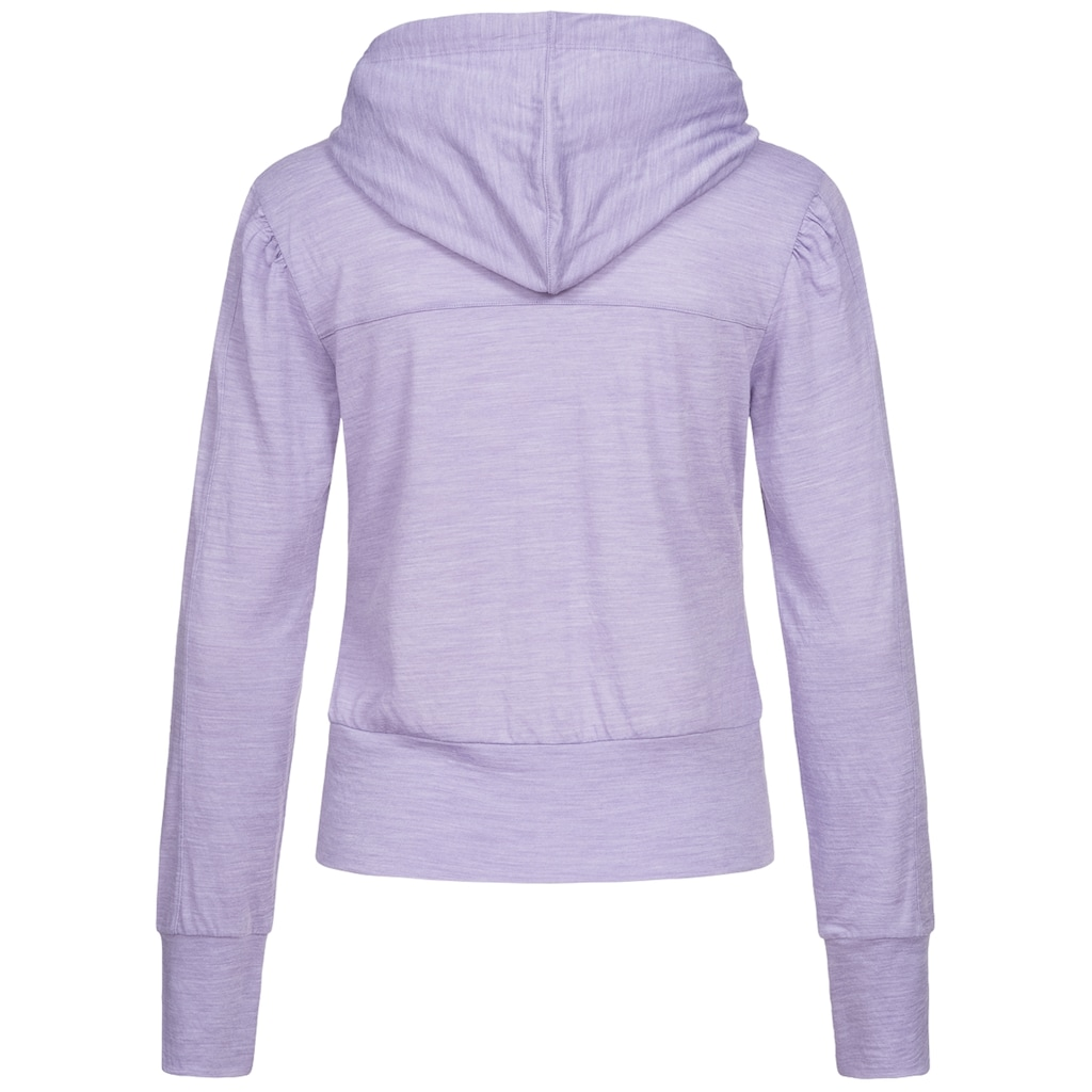 SUPER.NATURAL Kapuzensweatjacke »W HOODED COVER UP«, angenehmer Merino-Materialmix