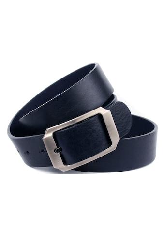 Anthoni Crown Ledergürtel, Vollleder Jeansgürtel in dunkelblau kaufen