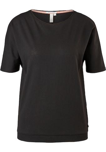 Q/S by s.Oliver T-Shirt, mit besonderem Ripp-Saum kaufen