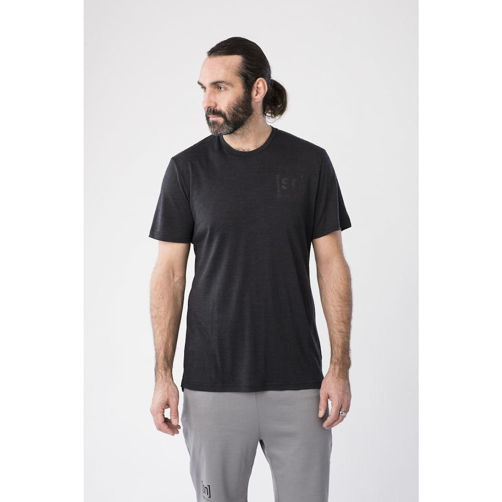 SUPER.NATURAL T-Shirt »M ACTIVE TEE«, atmungsaktiver Merino-Materialmix