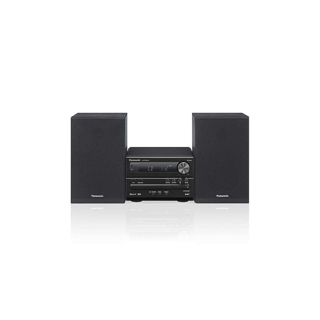 Panasonic Microanlage »SC-PM254 Schwarz«, (Bluetooth Digitalradio (DAB+)-FM-Tuner)