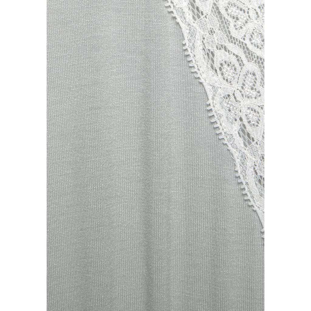 LASCANA Nachthemd, mit eleganter Spitze