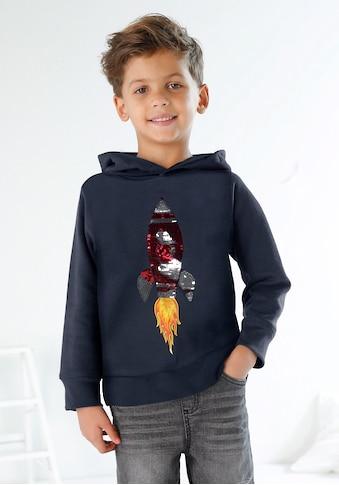 KIDSWORLD Kapuzensweatshirt, mit Rakete aus Wendepailletten kaufen