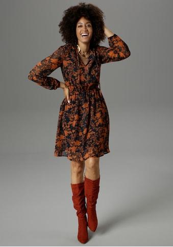 Aniston SELECTED Druckkleid, in herbstlichen Farben - NEUE KOLLEKTION kaufen