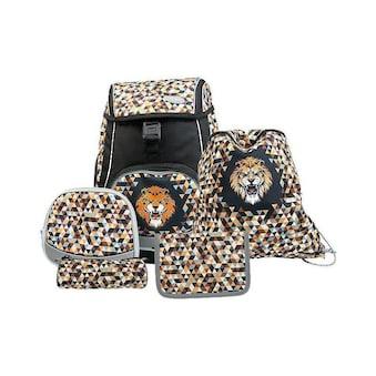 Schulthek - Set, Funki, »Flexy - Bag Wild Lion 5 - teilig« kaufen