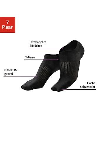 LASCANA ACTIVE Sneakersocken, (7 Paar), mit Mittelfussgummi kaufen