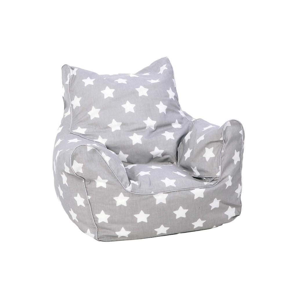 Knorrtoys® Sitzsack »Grey White Stars«, für Kinder