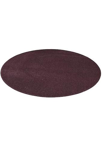 Living Line Teppich »Buffalo«, rund, 15 mm Höhe, Velours, Wohnzimmer kaufen