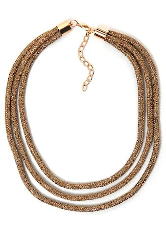 COLLEZIONE ALESSANDRO Collier »C2860-F08«, mit Glassteinen kaufen