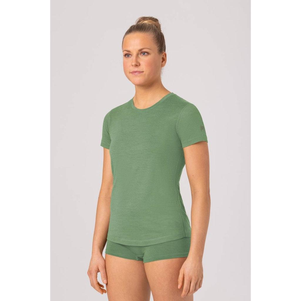 SUPER.NATURAL T-Shirt »W BASE TEE 140«, atmungsaktiver Merino-Materialmix