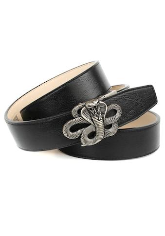 """Anthoni Crown Ledergürtel, mit Schliesse """"Kobra"""" kaufen"""