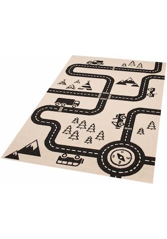 Kinderteppich, »Road Map Charly«, Zala Living, rechteckig, Höhe 4 mm, maschinell gewebt kaufen