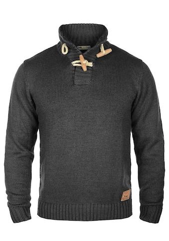 Solid Strickpullover »Piroy«, Strickpulli mit Knebelverschluss am Kragen kaufen