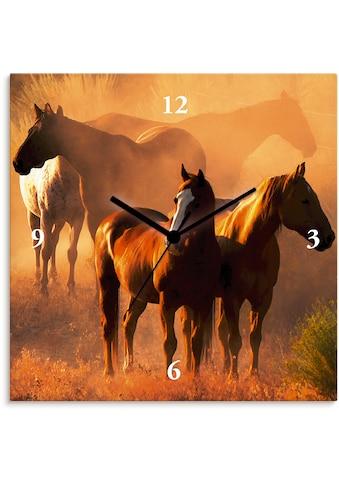 Artland Wanduhr »Friedliche Versammlung - Pferde« kaufen