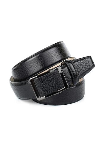 Anthoni Crown Ledergürtel, mit schwarzer glänzender Gürtelschliesse kaufen