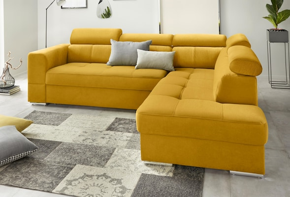 modernes Sofa in Senfgelb