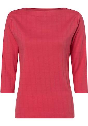 Olsen T-Shirt, mit Strukturmuster und 3-Ärmeln kaufen