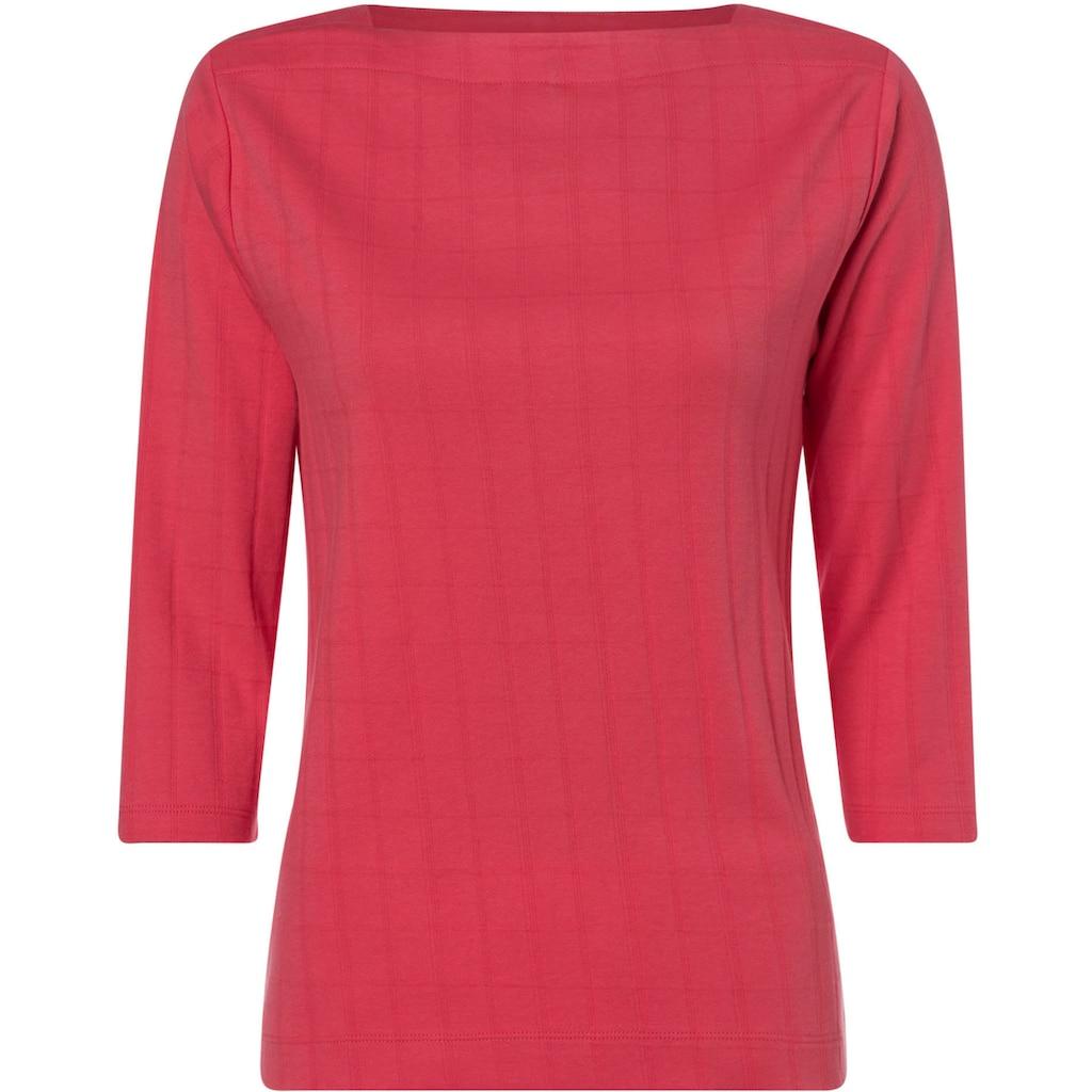 Olsen T-Shirt, mit Strukturmuster und 3-Ärmeln