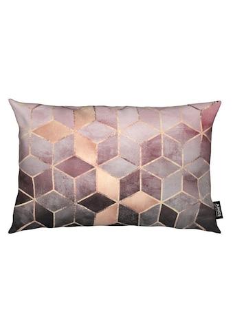 Juniqe Dekokissen »Pink Grey Gradient Cubes«, Weiches, allergikerfreundliches Material kaufen