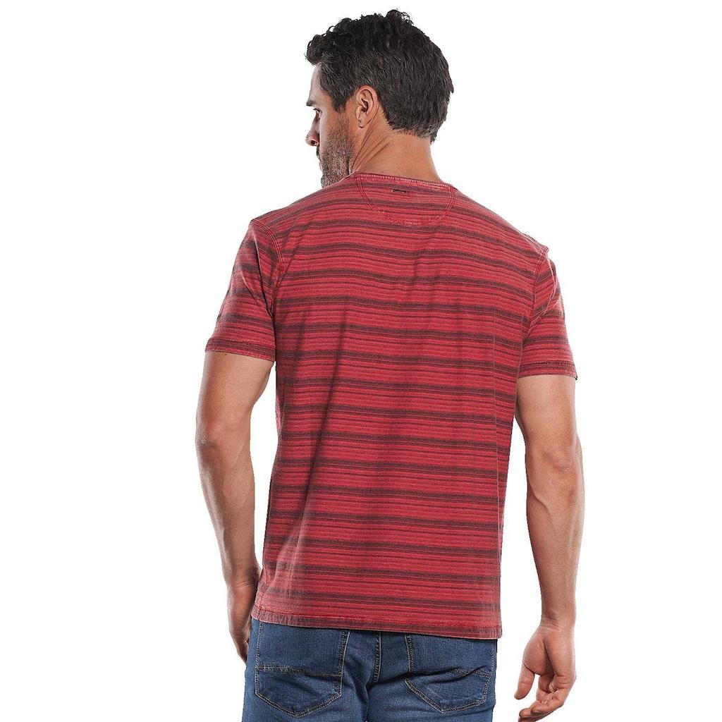 Engbers Im Stück gefärbtes Rundhals T-Shirt mit Brusttasche