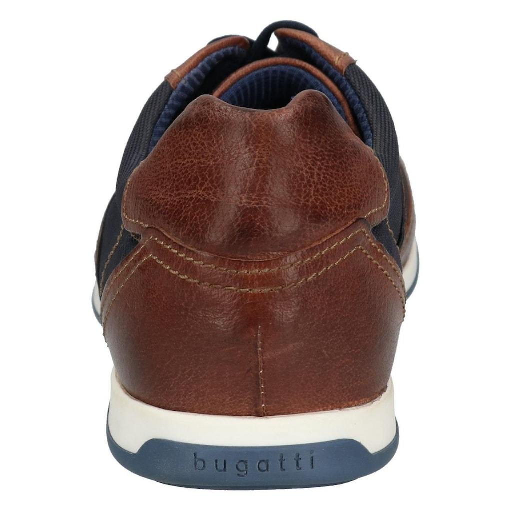 bugatti Schnürschuh »Tomeo«, mit geprägtem Textileinsatz