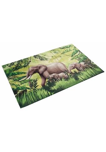 Böing Carpet Kinderteppich »Lovely Kids 404«, rechteckig, 6 mm Höhe, Motiv Elefanten kaufen