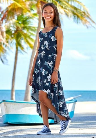 Arizona Vokuhila-Kleid, mit hübschen Blumendruck kaufen