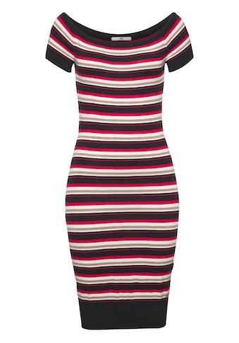 AJC Strickkleid, im Carmen-Style und trendigem Streifendesign kaufen