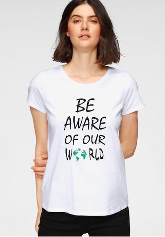 GOODproduct T-Shirt, nachhaltig aus zertifizierter Bio-Baumwolle mit Statement-Druck kaufen
